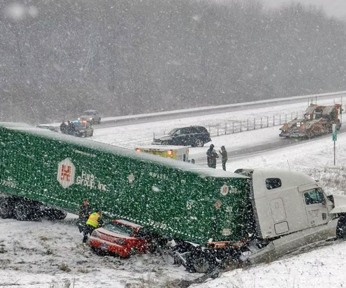 Trucking accidents in the winter