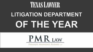 PMR - Litigation Department of the Year logo